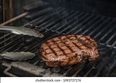 Premium Steak Steak Ribeye Being Prepared in Josper Grill
