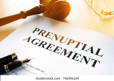 Prenuptial Agreement on a table.
