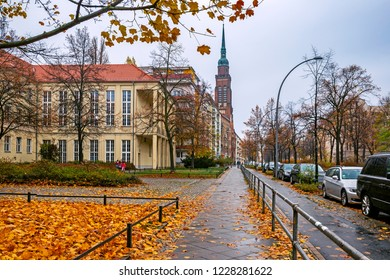 Prenzlauer Berg neighborhood of Berlin, Germany, in autumn