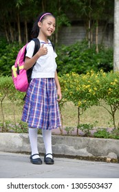 Prep Asian Female Student With Thumbs Up