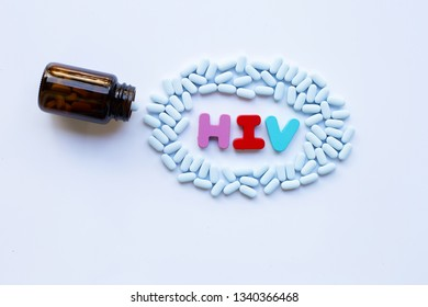 """""""PrEP"""" ( Pre-Exposure Prophylaxis). used to prevent HIV. White background."""