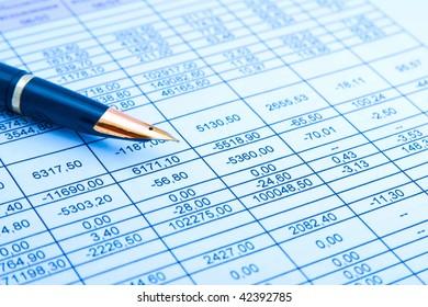 preparation of a balance sheet