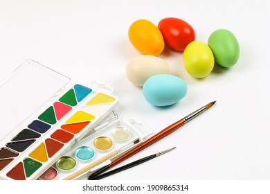 preparation for the celebration of Easter. Egg painting.