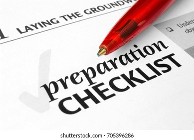 Preparation Checklist