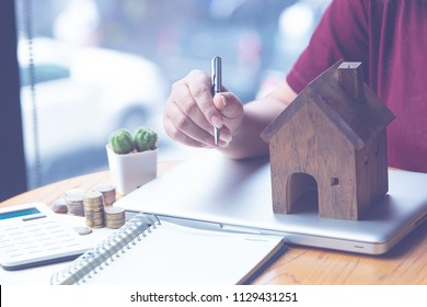 preparation concept for house model purchase and the fastest growing real estate economy,moving home or renting property via agent
