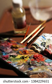 preparation for drawing with oil paints
