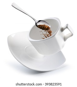 Preparation of instant coffee. Conceptual picture.