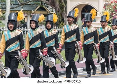 Preparation Parade Festival Siak Bermadah XIV,October10,2016 at Siak Indrapura, Riau,Indonesia