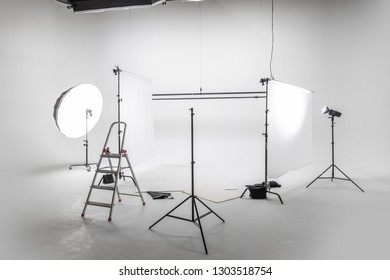 Preparation for studio shooting