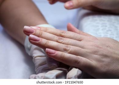 Preparation and treatment of natural nails before applying gel polish