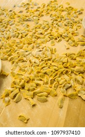 Preparation of a typical Langhe pasta: agnolotti