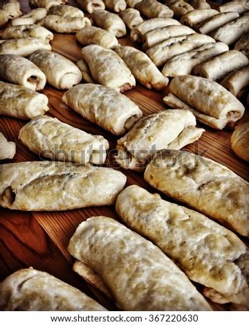 Polish Christmas Cookies.Prepare Cabbage Cookies Traditional Polish Christmas Stock