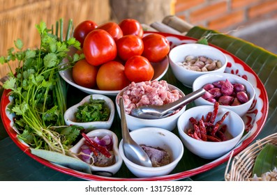 Prepare ingredients thai Northem style chilli dip