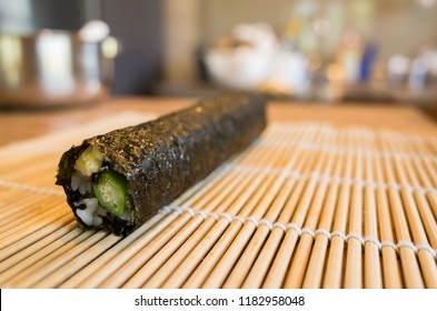 prepare and make homemade sushi on the table at home