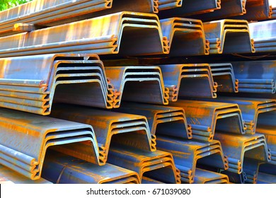 Prepare Sheet pile for retaining wall
