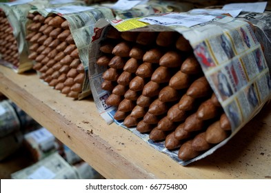 Prepared cigars Inside a cigar factory in Esteli in the northern mountains of Nicaragua