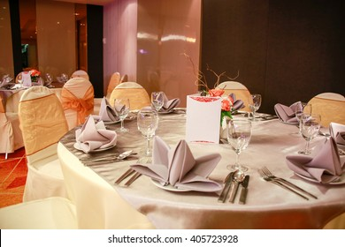 prepared gala dinner table