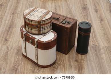 Prepared Luggage and Suitcases for holiday at home