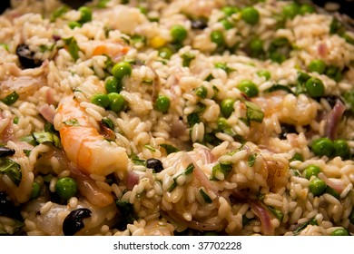 prepared risotto meal ready to eat in closeup