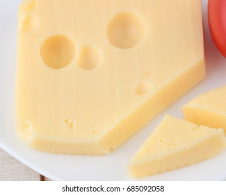 Preparing breakfast with cheese