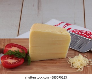 Preparing breakfast with cheese and vegetables