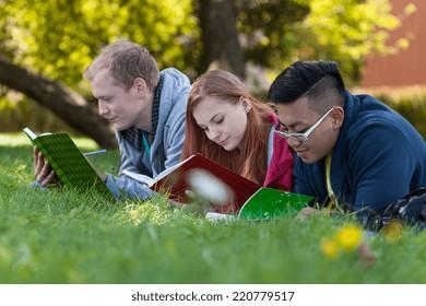 Preparing for exam on a fresh air