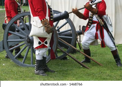 Preparing to Fire--Revolutionary War Reenactment
