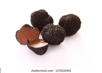 preparing fresh black ground truffles