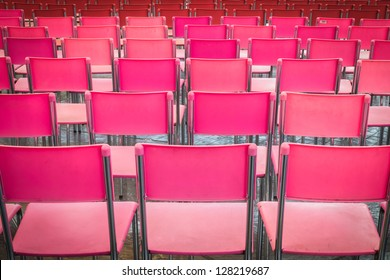 Preparing many seat for mini-concert and performance during month of love