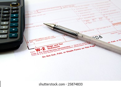 Preparing Taxes - Form W2 for 2008