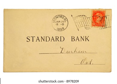 Pre-printed Canadian post card dated 1898 with a 3 cent Queen Victoria stamp.