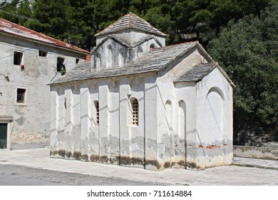 Pre-Romanesque church Sv. Petra na Priku in Omis, Croatia