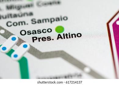 Pres. Altino Station. Sao Paolo Metro map.