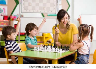 Preschool and Chess in Classroom