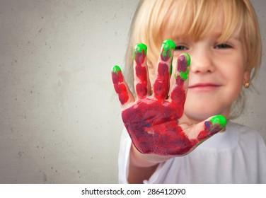 Preschool, Child, Painting.