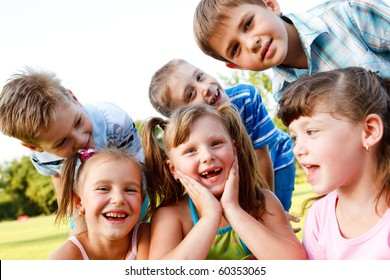 Preschool kids laughing