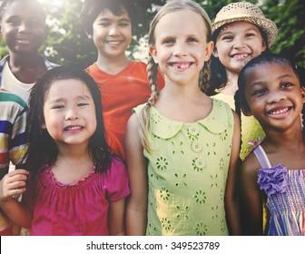 Preschooler Children Friends Smiling Happiness Concept