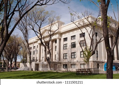 PRESCOTT, ARIZONA, USA 4-24-2018 The Yavapai County Courthouse in spring