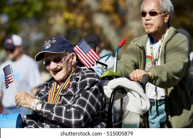 Prescott, AZ, USA - November 10, 2016: Senior war veteran at the Veterans Day Parade in Prescott, Arizona, USA.