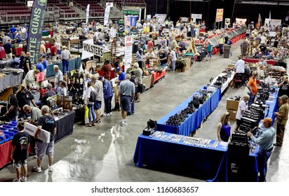 Prescott Valley, Arizona, USA - August 19, 2018: Gunshow at the Prescott Valley Event Center