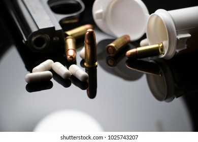 Prescription Pills and Weapons. Mental health issue or Gun Control problem. Rise of violence school shootings in America.
