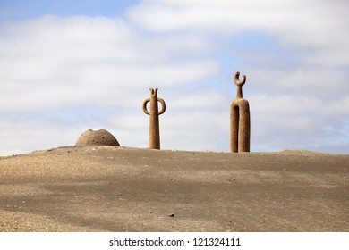 Presencias Tutelares desert sculptures, Arica, Chile