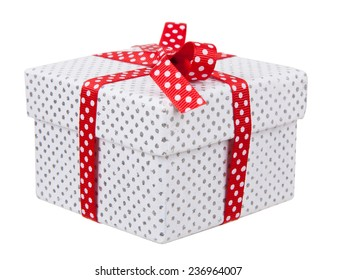 Present box isolated on white background