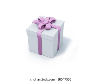 present box with pink ribbon. FIND MORE present boxes in my portfolio