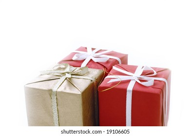 present boxes isolated