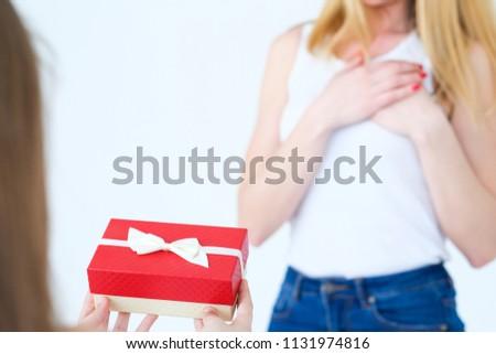Present Gift Box Mother Birthday Surprise Stock Photo Edit Now