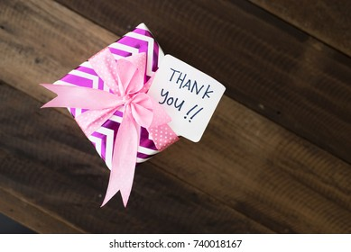 Present Gift Thank You Note Handwritten Stock Photo Edit Now