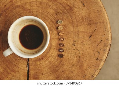 Presentation of different seven grades of coffee beans professional artisan roasting process