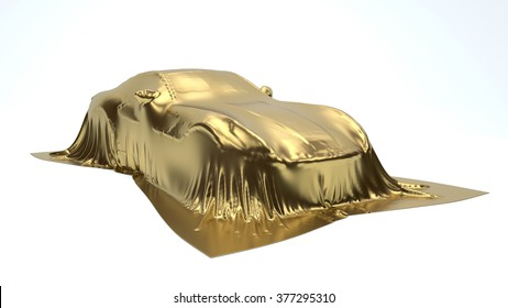 Presentation of the gold sport car