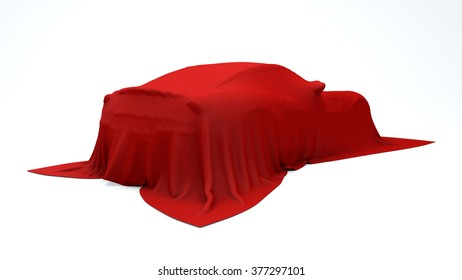 Presentation of the red sport car
